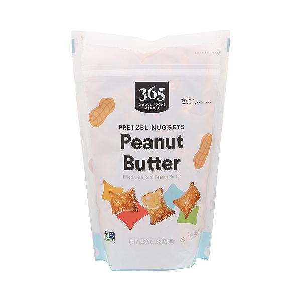 Pretzel Nuggets, Peanut Butter, 18 oz 1