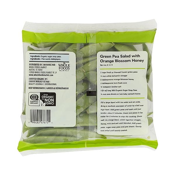 Organic Packaged Vegetables, Sugar Snap Peas 7