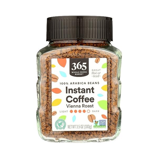 100% Arabica Beans Coffee, Instant - Vienna Roast, 3.5 oz 1