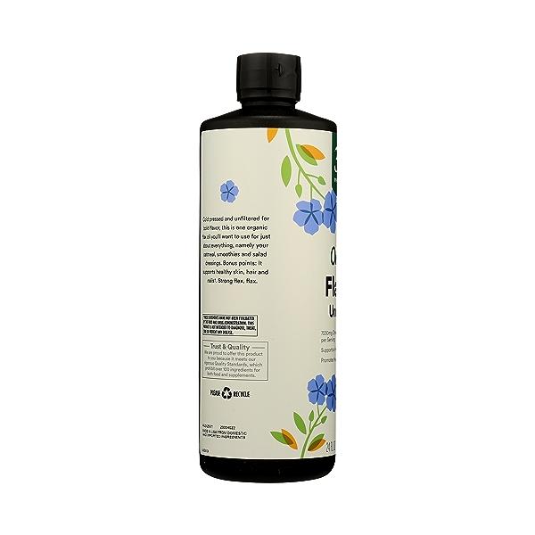 Organic Flax Oil, 24 fl oz 5
