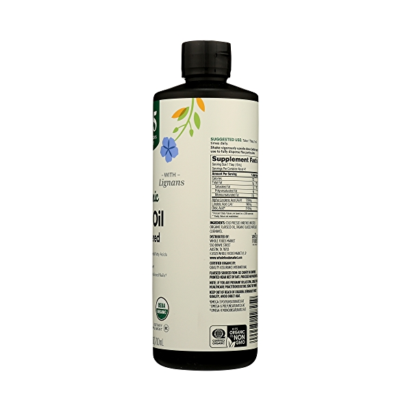 Organic Flax Oil, 24 fl oz 8