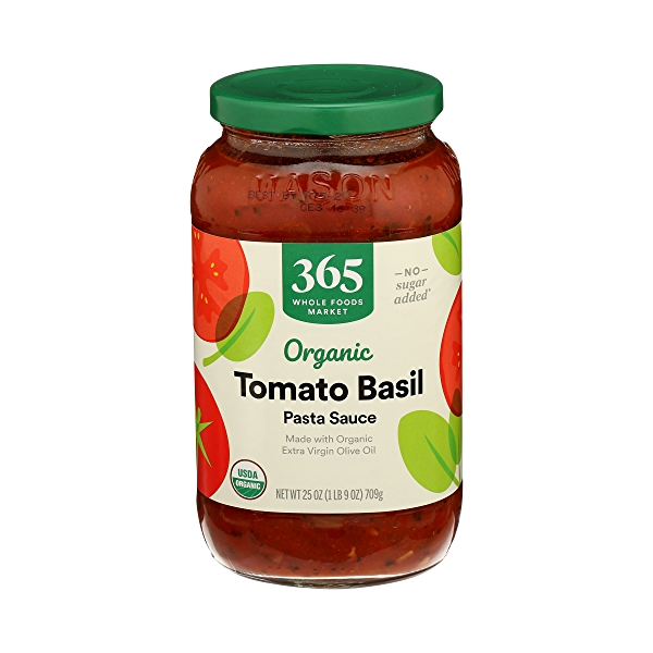 Organic Pasta Sauce, Tomato Basil, 25 oz 2