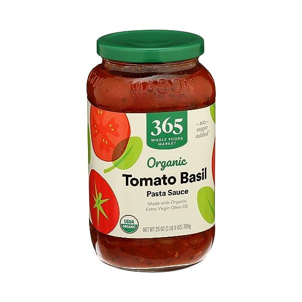 Organic Pasta Sauce, Tomato Basil, 25 oz 3