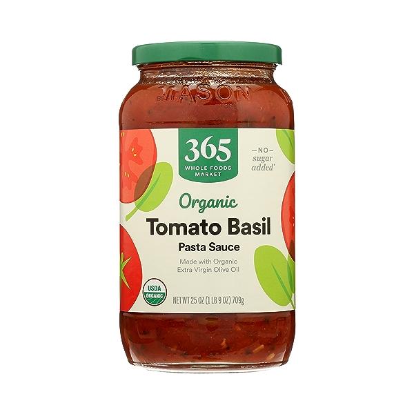Organic Pasta Sauce, Tomato Basil, 25 oz 1