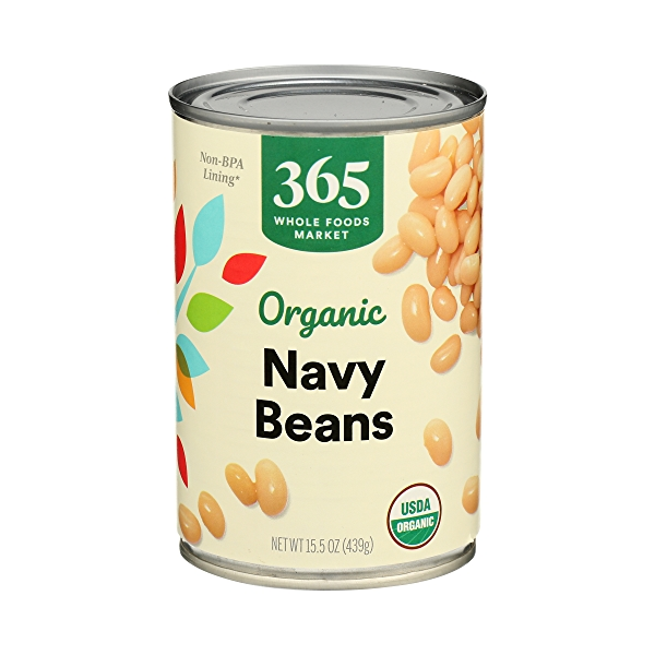 Organic Canned Beans, Navy, 15.5 oz 2