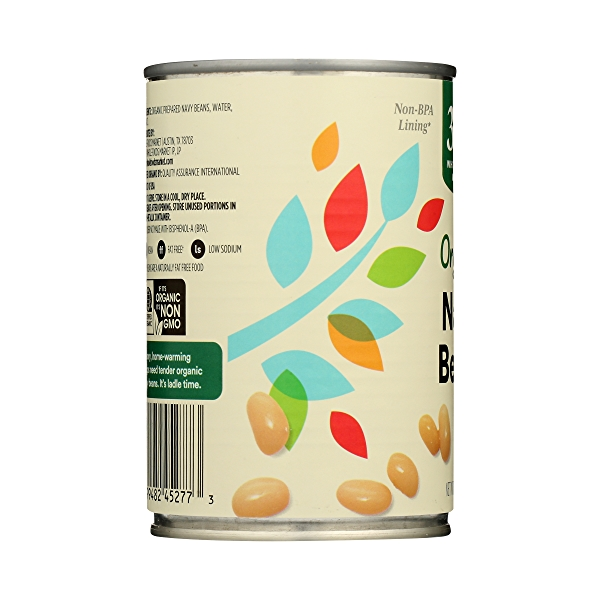 Organic Canned Beans, Navy, 15.5 oz 5