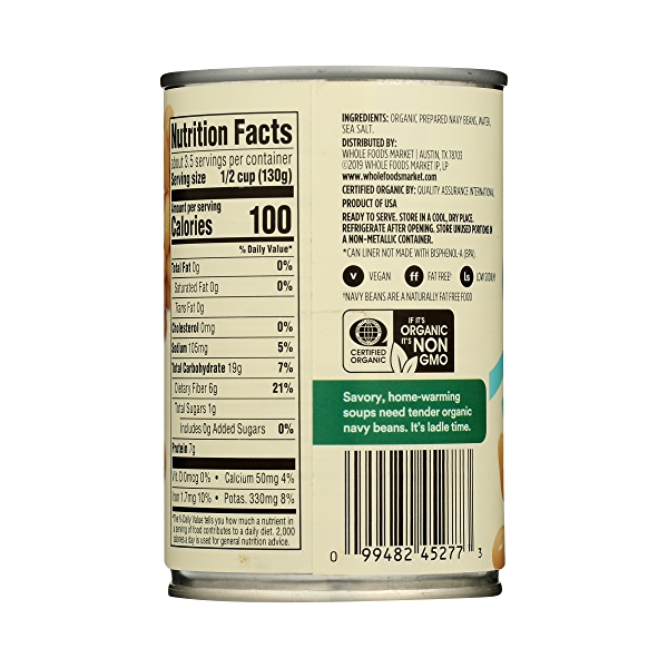 Organic Canned Beans, Navy, 15.5 oz 7
