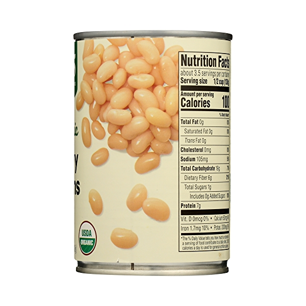 Organic Canned Beans, Navy, 15.5 oz 8