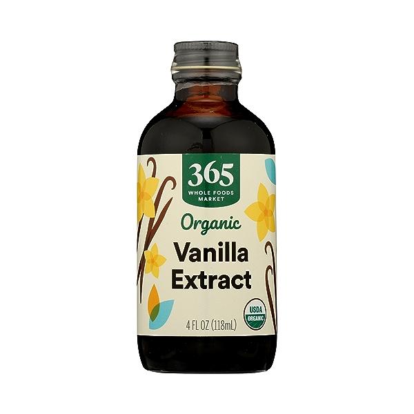 Organic Seasonings, Vanilla Extract, 4 fl oz 1