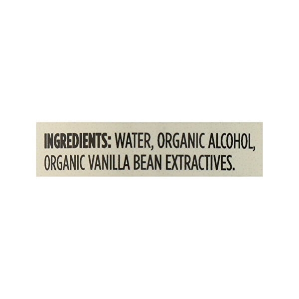 Organic Seasonings, Vanilla Extract, 4 fl oz 12