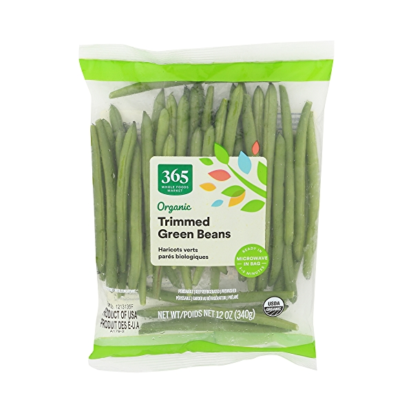 Organic Packaged Vegetables, Green Beans - Trimmed 2
