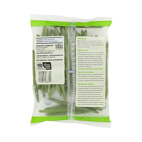 Organic Packaged Vegetables, Green Beans - Trimmed 7