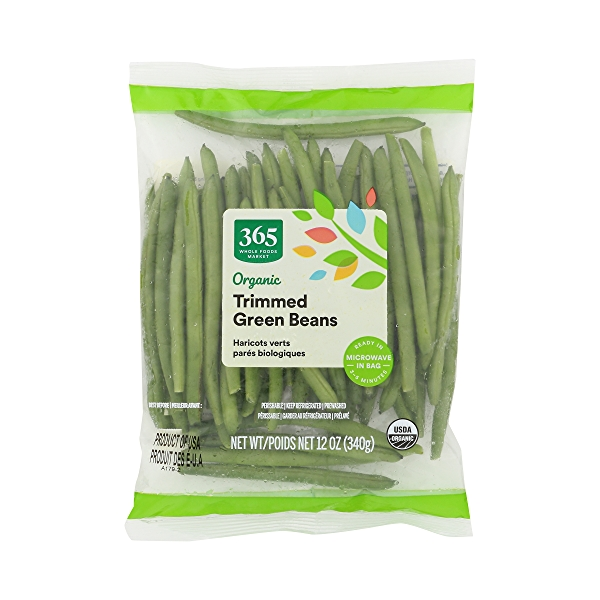 Organic Packaged Vegetables, Green Beans - Trimmed 1
