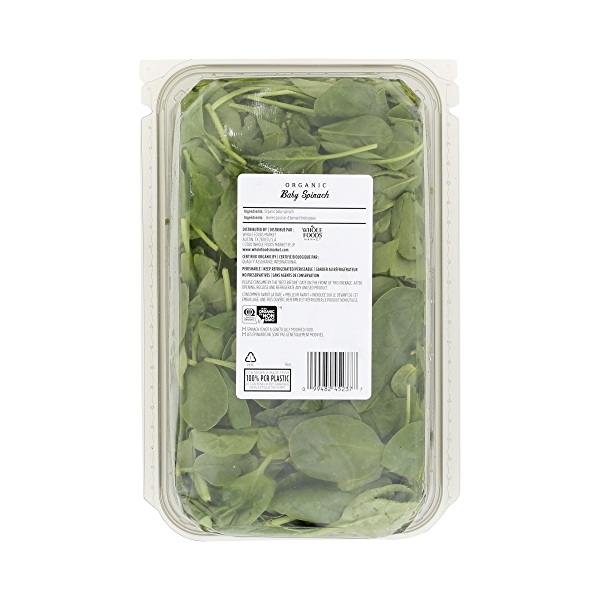 Organic Packaged Salads, Baby Spinach (Triple-Washed) 4