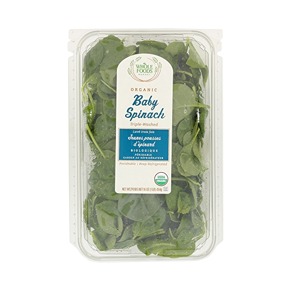 Organic Packaged Salads, Baby Spinach (Triple-Washed) 1