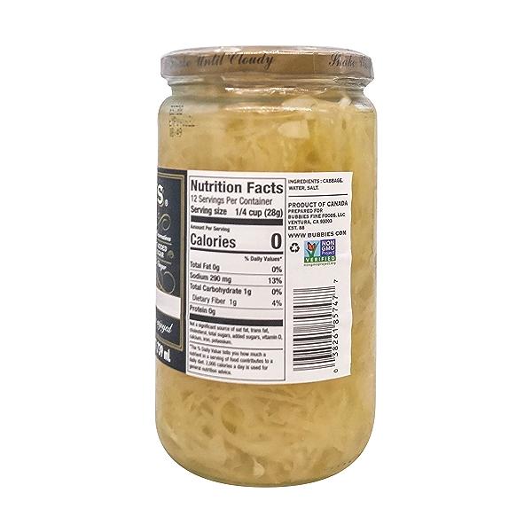Sauerkraut, 25 fl oz 2