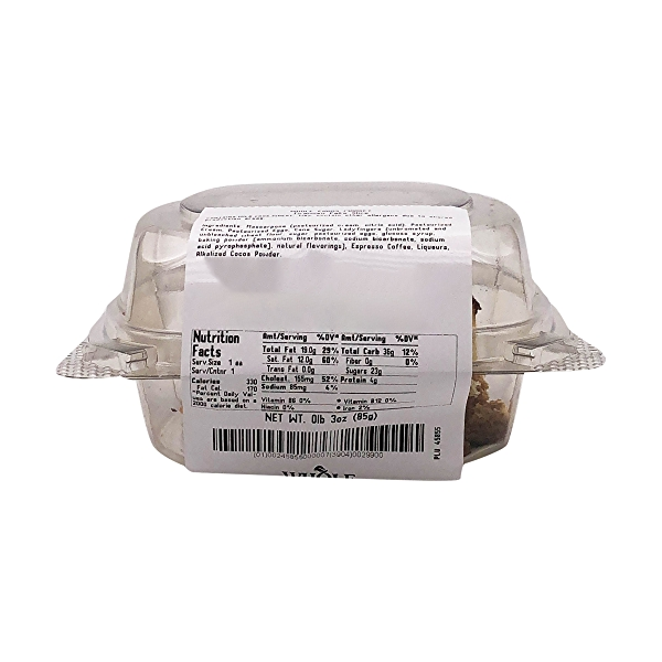 Tiramisu Cake Slice, 3 oz 4