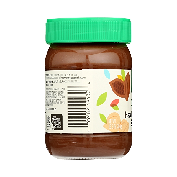 Organic Hazelnut Cocoa Spread, 12.3 oz 2