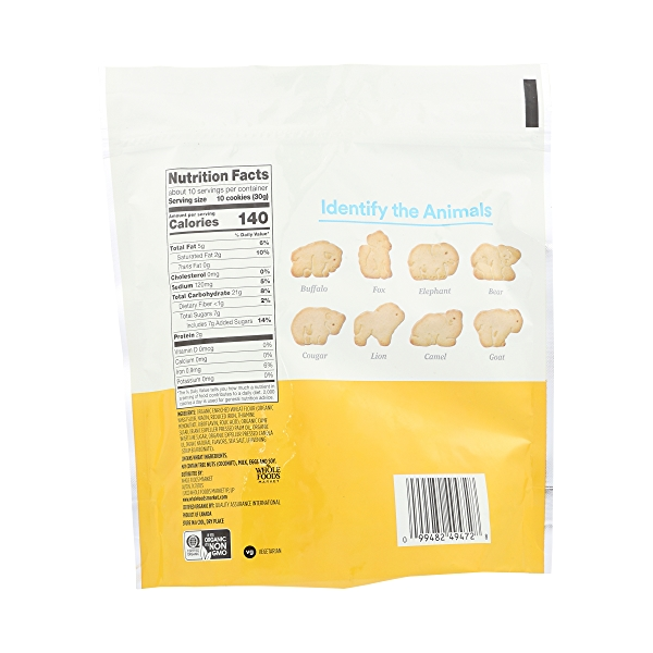 Organic Vanilla Animal Cookie, 11 oz 4