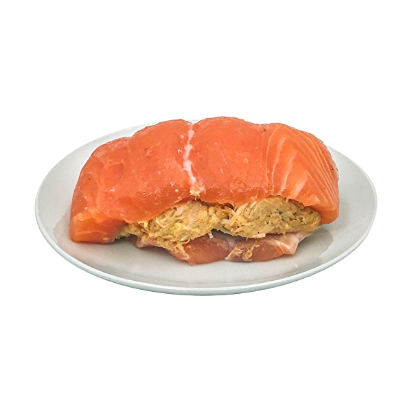 Crabcake Stuffed Atlantic Salmon 7