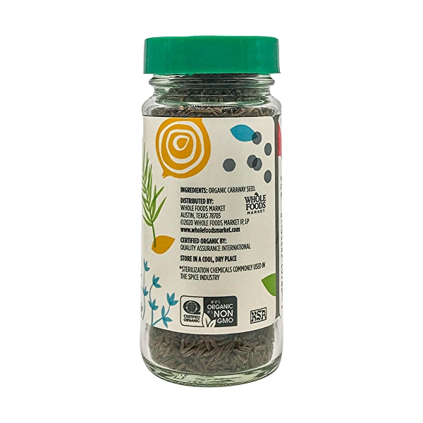 Organic Caraway Seed, 1.76 oz 2