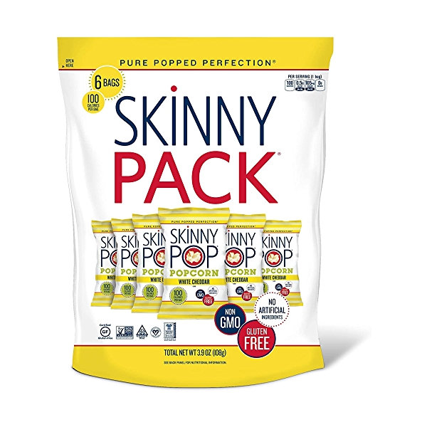 Popcorn Skinnypack White Cheddar 6pk, 3.9 oz 1