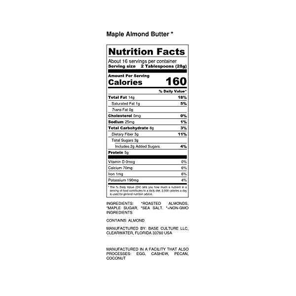 Maple Almond Butter, 16 oz 2
