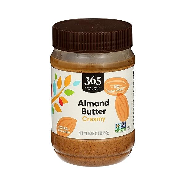 Almond Butter, Creamy, 16 oz 1