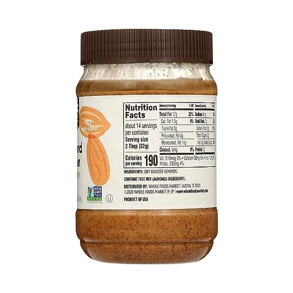 Almond Butter, Creamy, 16 oz 5