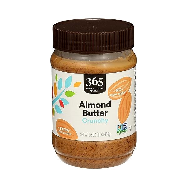 Almond Butter, Crunchy, 16 oz 1