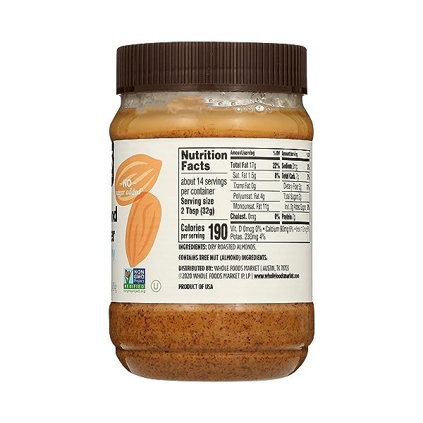 Almond Butter, Crunchy, 16 oz 5
