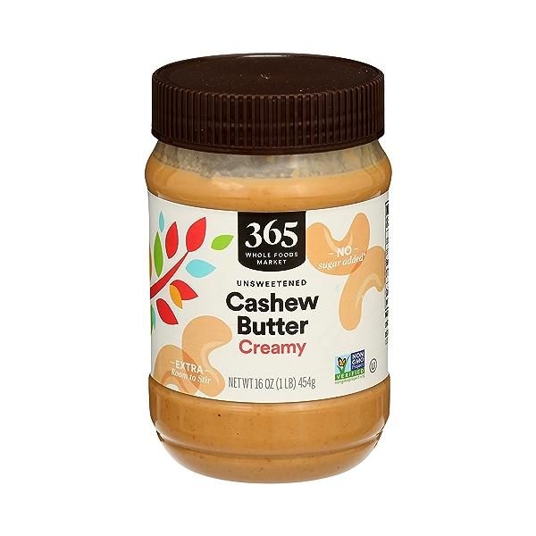 Cashew Butter, Creamy, 16 oz 1