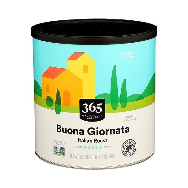 Ground Coffee in Canister, Buona Giornata - Italian Roast, 28.5 oz 1