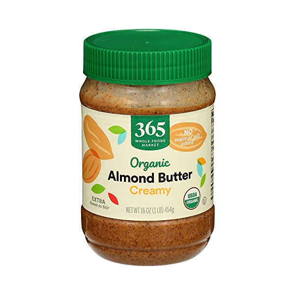 Organic Almond Butter, Creamy, 16 oz 1