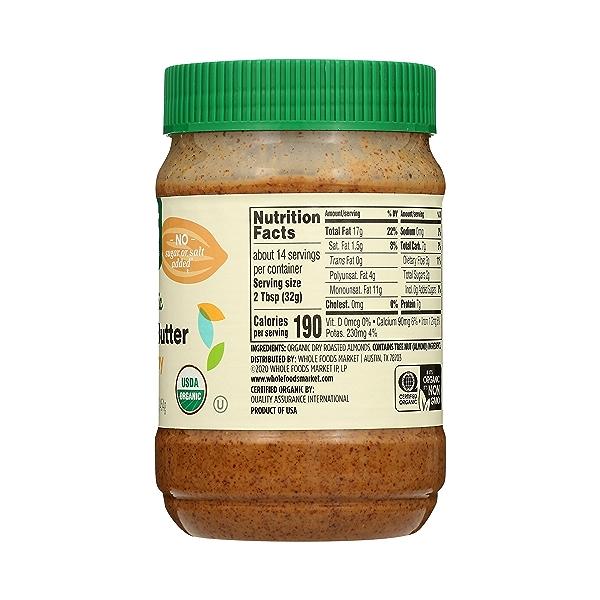 Organic Almond Butter, Creamy, 16 oz 5
