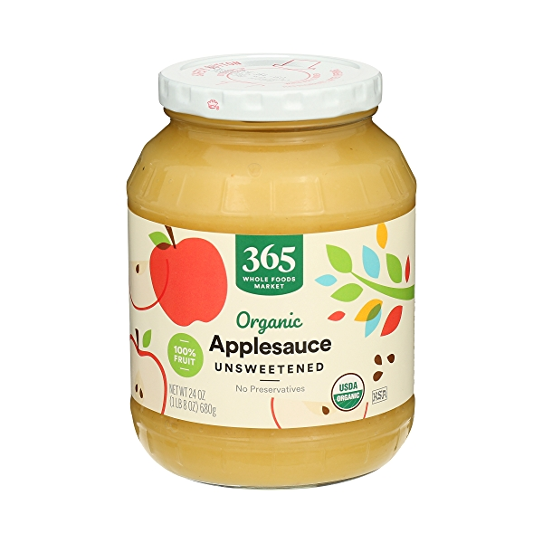 Organic Applesauce, Unsweetened, 24 oz 1
