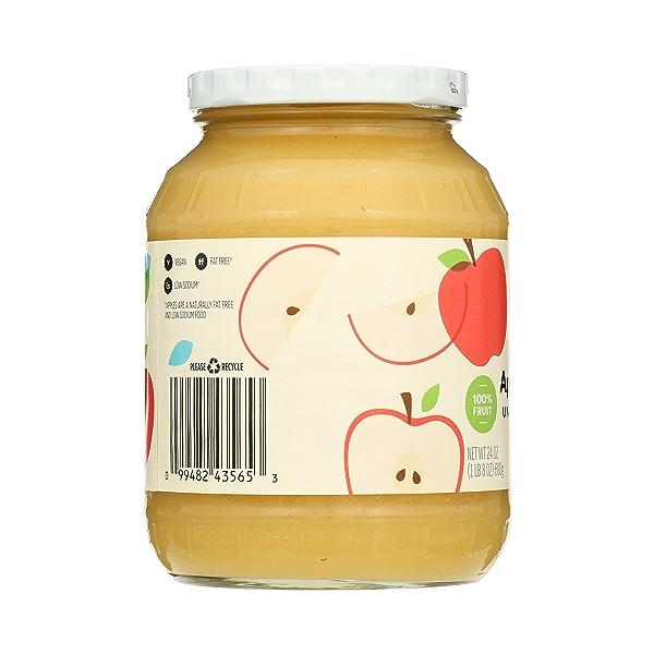 Organic Applesauce, Unsweetened, 24 oz 2