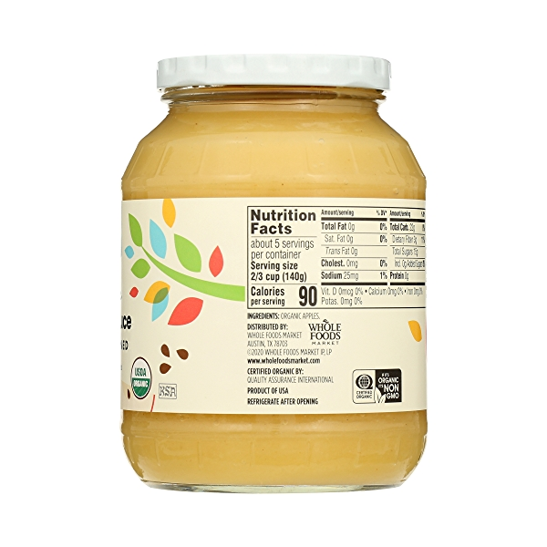 Organic Applesauce, Unsweetened, 24 oz 5