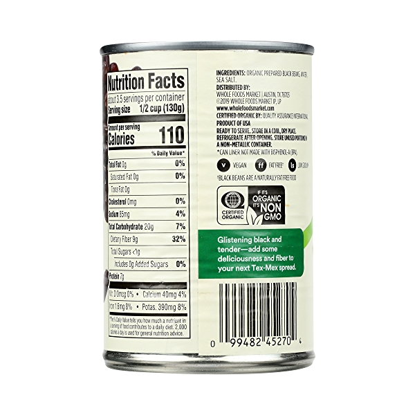 Organic Canned Beans, Black Beans, 15 oz 4