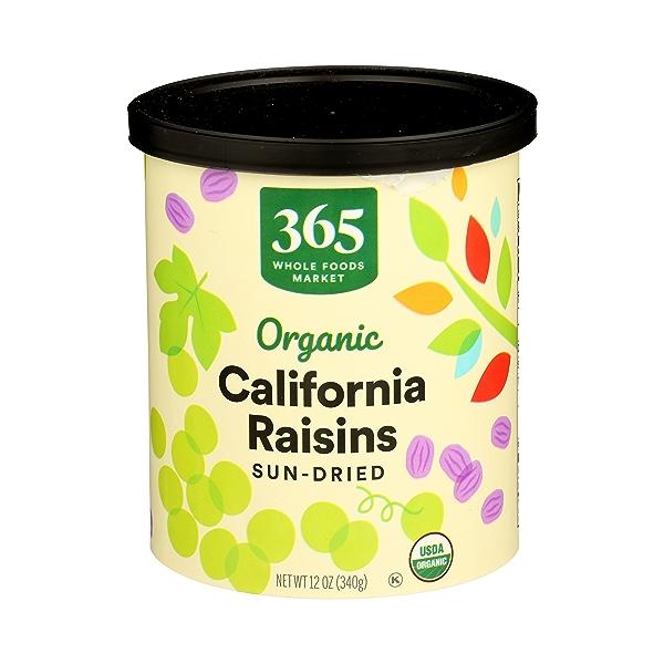 Organic Dried Fruit, California Raisins - Sun Dried, 12 oz 1