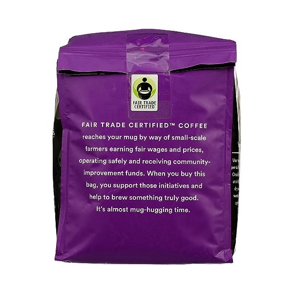 Organic Ground Coffee in Bag, Full City Roast - Buzz Free Decaf, 24 oz 4