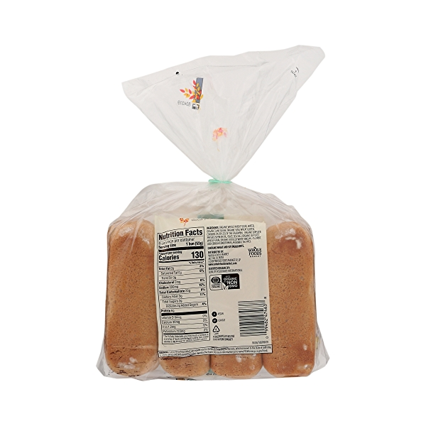 Organic Hot Dog Buns, Whole Wheat (8 Buns), 15 oz 4