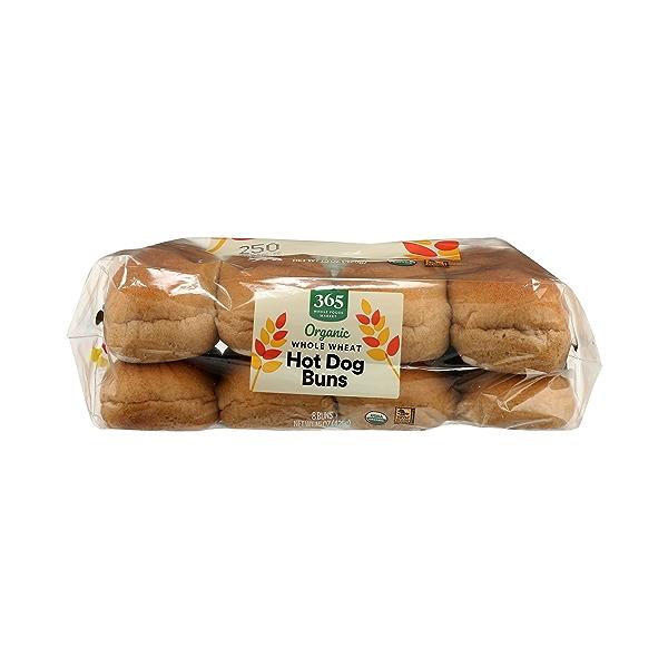 Organic Hot Dog Buns, Whole Wheat (8 Buns), 15 oz 6