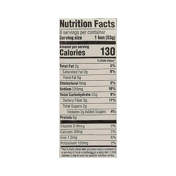 Organic Hot Dog Buns, Whole Wheat (8 Buns), 15 oz 7