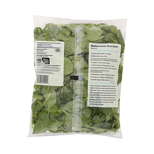 Produce - Organic Packaged Baby Spinach 4