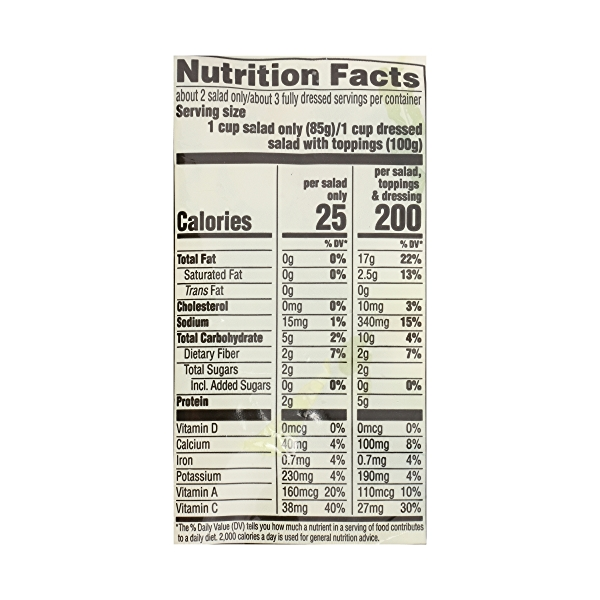 Produce - Organic Packaged Chopped Salad Kit, Kale Caesar 7