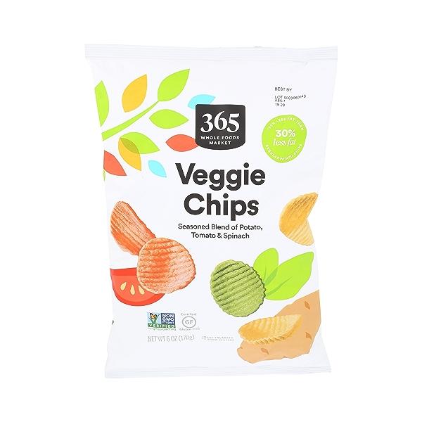 Veggie Chips (Seasoned Blend of Potato, Tomato & Spinach), 6 oz 1