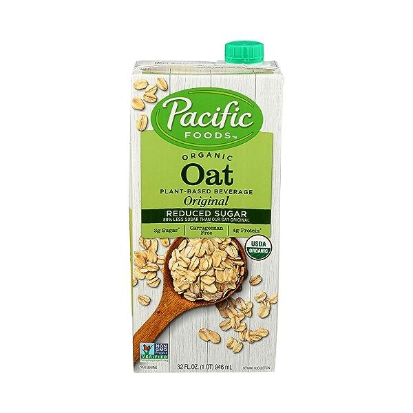 Organic Reduced Sugar Oat Original 32 Oz 1