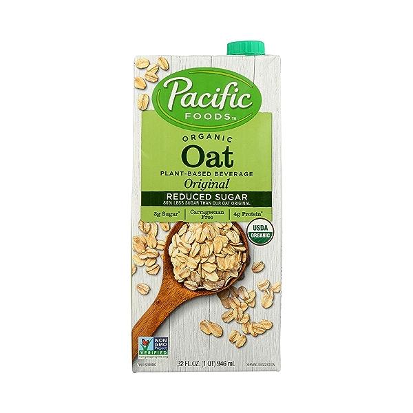 Organic Reduced Sugar Oat Original 32 Oz 2