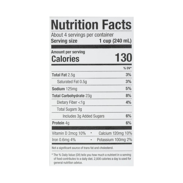 Organic Reduced Sugar Oat Original 32 Oz 8